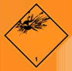 Gefahrgut Klasse 1 Schild